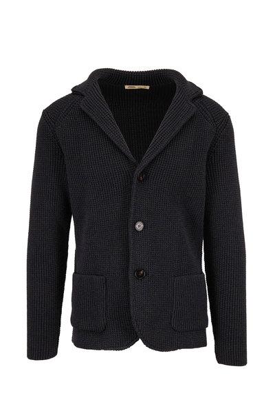 Maurizio Baldassari - Navy Wool Sweater Jacket