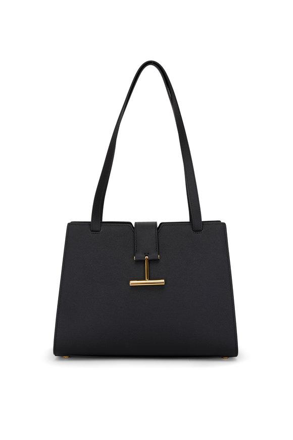 Tom Ford Tara Black Leather Medium Shoulder Bag