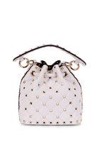 Valentino Garavani - Rockstud White Leather Mini Bucket Bag