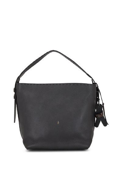 Henry Beguelin - Margherita Anthracite Leather Medium Shoulder Bag