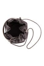 Jimmy Choo - Bon Bon Gunmetal Metallic Leather Bucket Bag