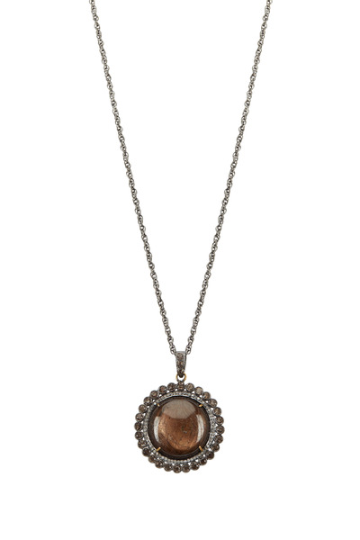 Loriann - Sterling Silver Sapphire & Smoky Topaz Necklace
