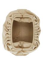 Bottega Veneta - The Pouch Porridge Nude Leather Large Clutch