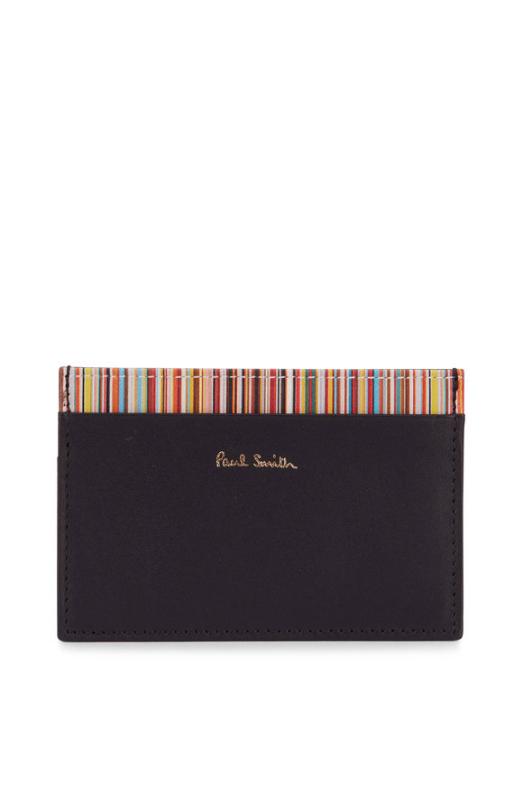 Paul Smith Black Leather Four Pocket Card Case