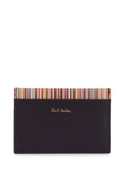 Paul Smith - Black Leather Four Pocket Card Case