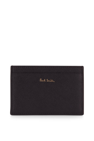 Paul Smith - Black Grained Leather Storefront Graphic Card Case