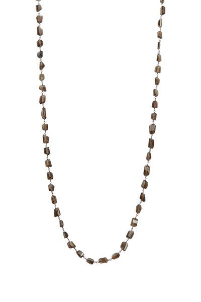 Loriann - Medium Smoky Topaz Wire Wrap Accessory Necklace