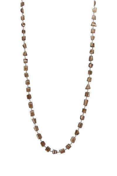 Loriann - Sterling Silver Smoky Topaz Wrap Necklace