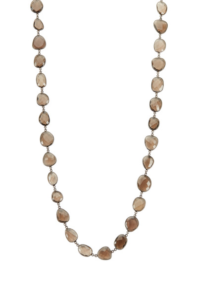 Loriann - Large Organic Smoky Topaz Accessory Necklace