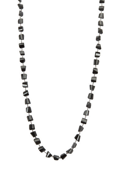 Loriann - Black Spinel Wire Wrap Accessory Necklace