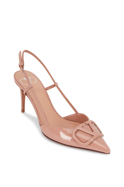 Valentino Garavani - Cannelle VLOGO Rose Leather Slingback