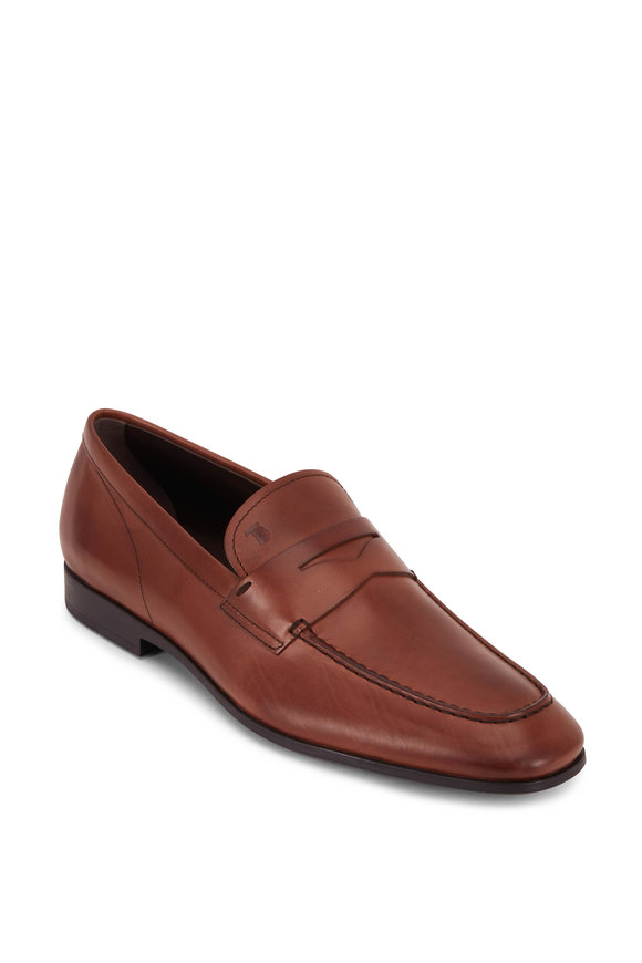 Tod's Gomma Teak Leather Penny Loafer