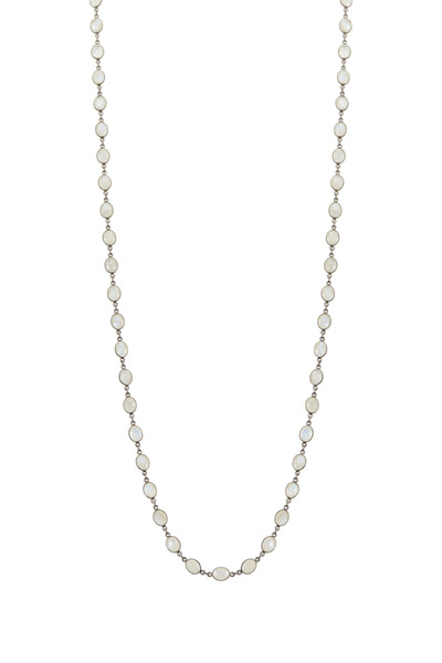 Loriann - Medium Oval Moonstone Accessory Necklace