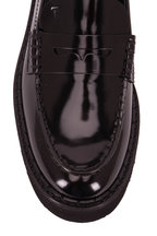 Tod's - Black Patent Leather Exaggerated Sole Penny Loafer