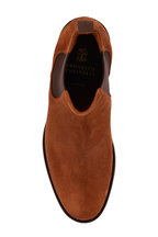 Brunello Cucinelli - Brown Suede Lug Sole Chelsea Boot