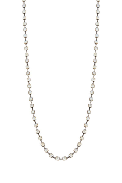 Loriann - Small Square Moonstone Necklace