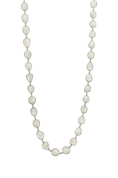 Loriann - Large Organic Moonstone Accessory Necklace