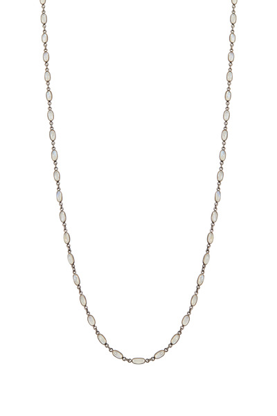 Loriann - Small Thin Moonstone Accessory Necklace