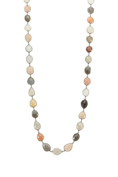 Loriann - Muli Color Organic Moonstones Accessory Necklace