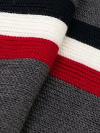 Moncler - Gray Wool Ribbed Knit Scarf