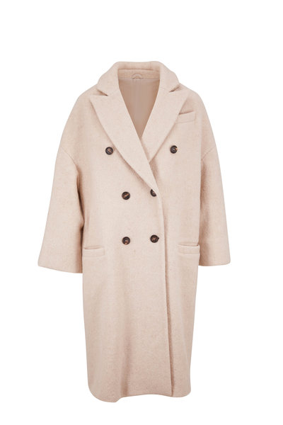 Brunello Cucinelli - Natural Alpaca & Wool Double-Breasted Coat