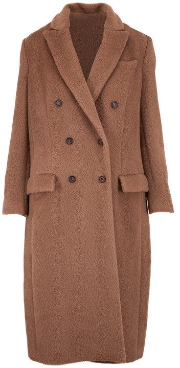 Brunello Cucinelli Caffe Alpaca & Wool Double-Breasted Coat