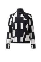 Akris - Black & White Reversible Knit Jacket