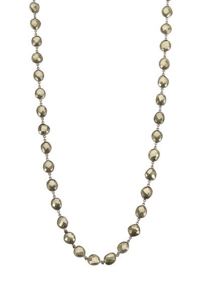 Loriann - Medium Pyrite Gemstone Necklace