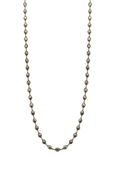 Loriann - Oval Pyrite Accessory Necklace