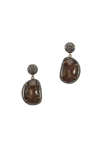 Loriann - Organic Chocolate Sapphire & Smokey Topaz Earrings