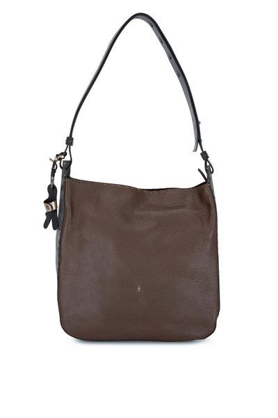 Henry Beguelin - Ileana Chestnut Leather Large Shoulder Bag
