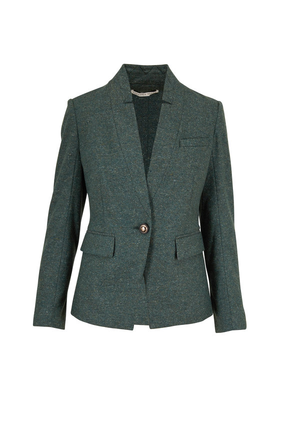 Veronica Beard Upcollar Forest Green Dickey Jacket
