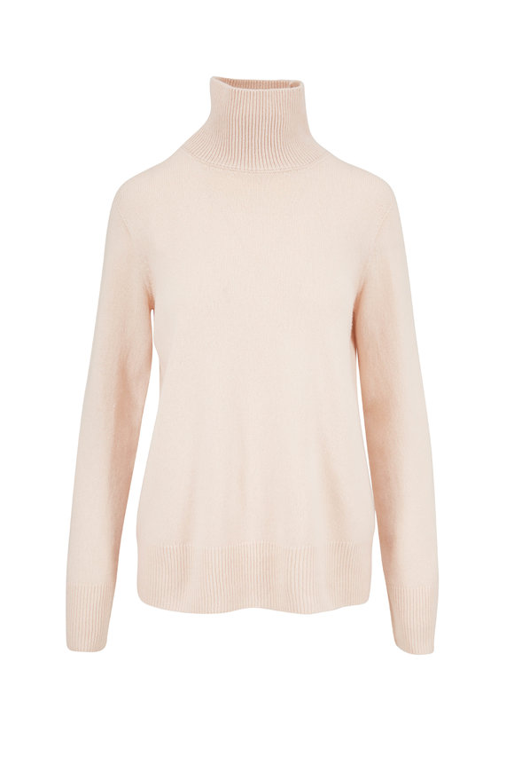 The Row Milina Beige Wool & Cashmere Turtleneck Sweater