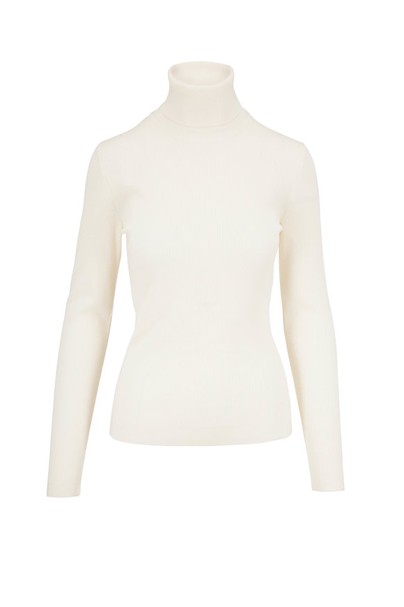 Dolce & Gabbana Creamy White Wool Turtleneck Sweater