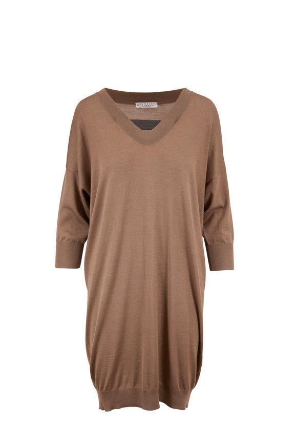 Brunello Cucinelli Cafe Cashmere & Silk Sweater Dress