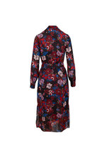 Veronica Beard - Leanne Black Multi Floral Long Sleeve Dress