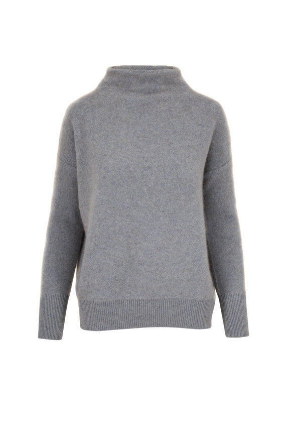 Vince Heather Patina Boiled Cashmere Funnel Neck Sweater