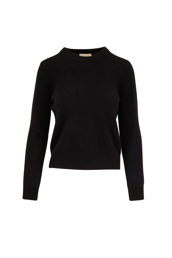 Jumper 1234 Black Cashmere Elbow Patch Sweater