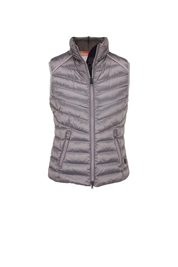 Bogner Irina Silver Front Zip Puffer Vest