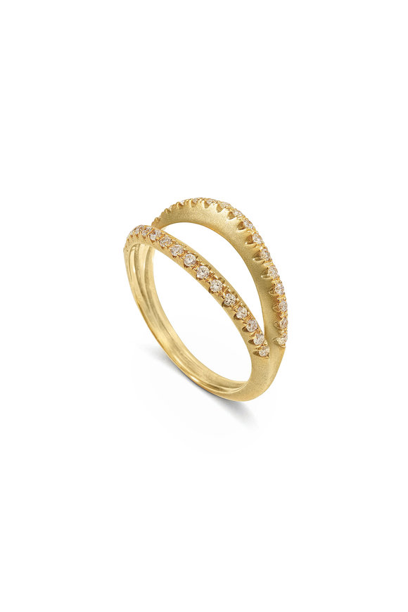 Sandy Leong 18K Recycled Yellow Gold Diamond Pinky Ring