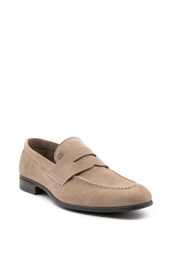 G Brown Cannon Tan Suede Penny Loafer