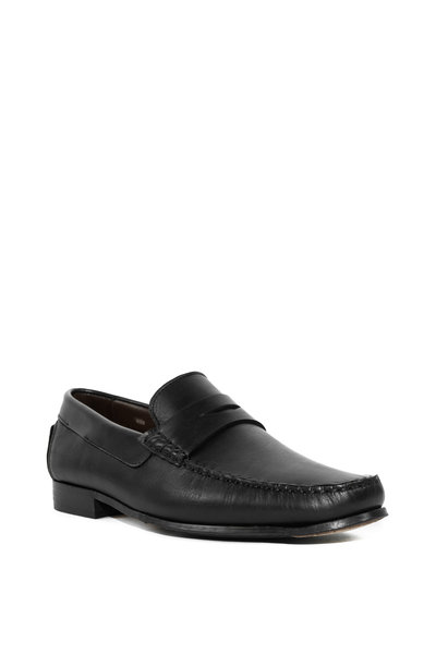 G Brown - Malibu Black Leather Penny Loafer