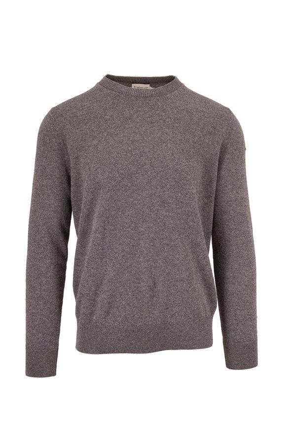 Moncler Gray Wool Crewneck Sweater