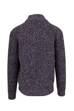 Brunello Cucinelli - Navy Blue Wool & Cashmere Chunky Knit Sweater