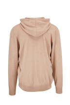 Brunello Cucinelli - Oatmeal Wool & Cashmere Front Zip Hoodie