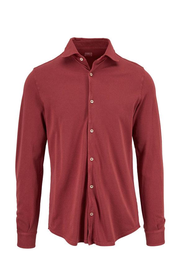 Fedeli Nantucket Red Piqué Sport Shirt