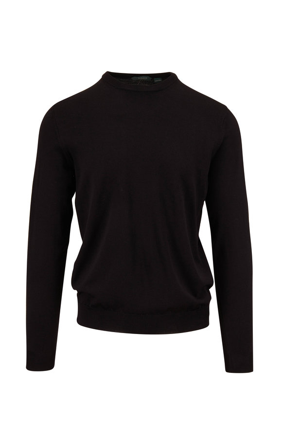 Zanone Black Flexwool Crewneck Pullover