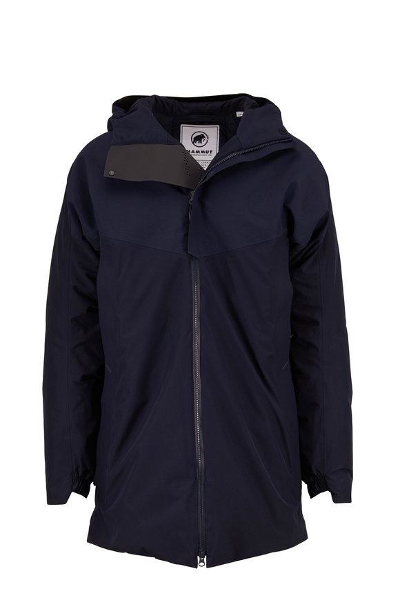04651/ Mammut Navy Hooded Down Lined Parka