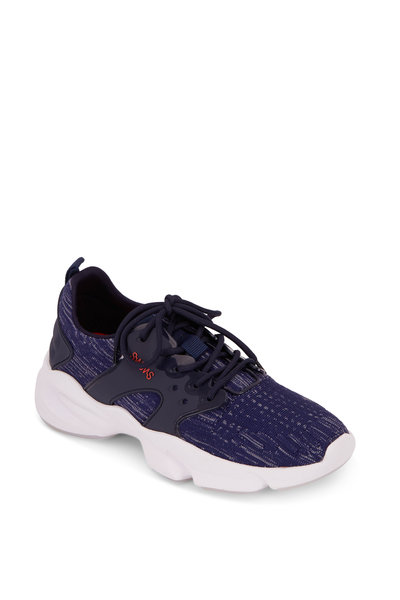Swims - Cage Blue & White Exaggerated Sole Trainer