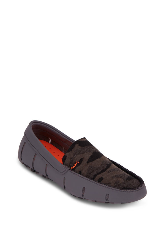 Swims Night Camo & Gray Knit Venetian Loafer